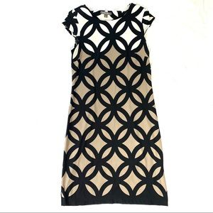 Roz & Ali Size 4 Dress Black, Brown, And Cream